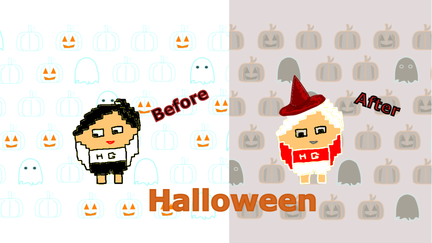 use 'before' and 'now' to talk about changes and Halloween